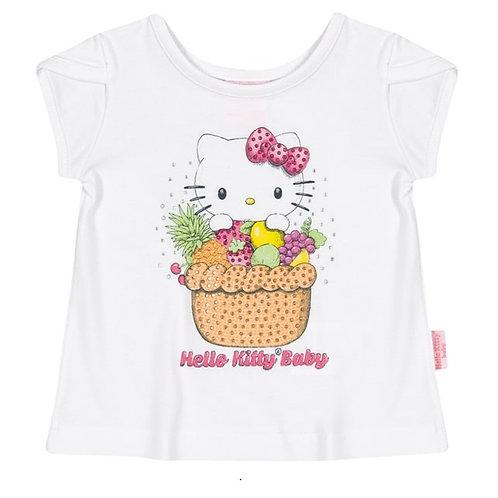 Camiseta Bebê - Branco - Hello Kitty