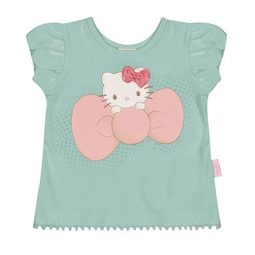 Camiseta Bebê - Verde - Hello Kitty