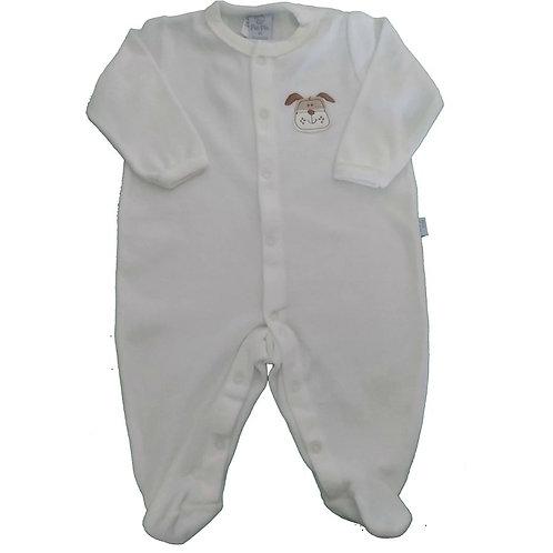 Macacão Plush Bebê Cachorrinho - Piu Piu - Marfim