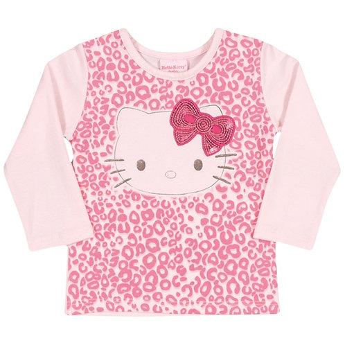 Blusa Manga Longa Bebê  - Rosa - Hello Kitty
