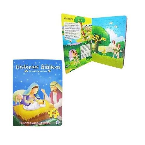 Livro Com Quebra-cabeça Historias Biblicas Com 144 Pecas