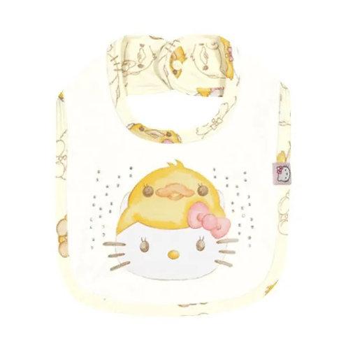 Babador Suedine com Strass - Natural - Hello Kitty