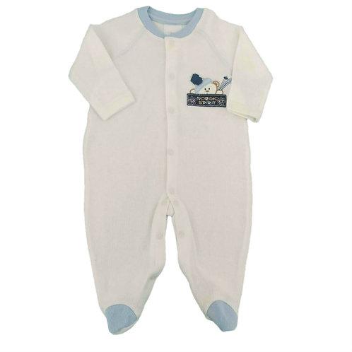Macacão Infantil Esquiador - Baby Fashion - Branco