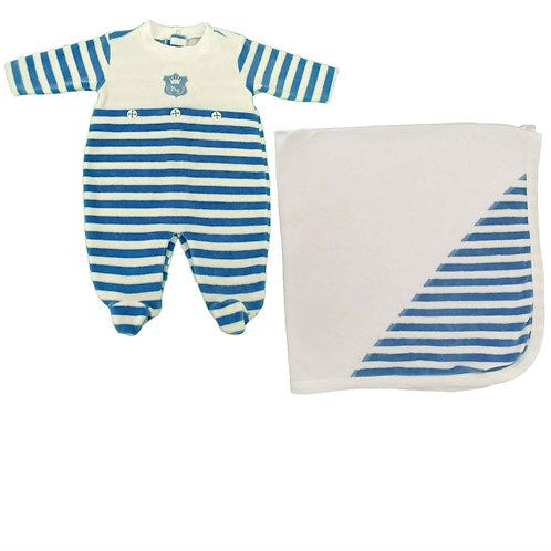 Saída Maternidade Menino Emblema - Baby Fashion - Azul