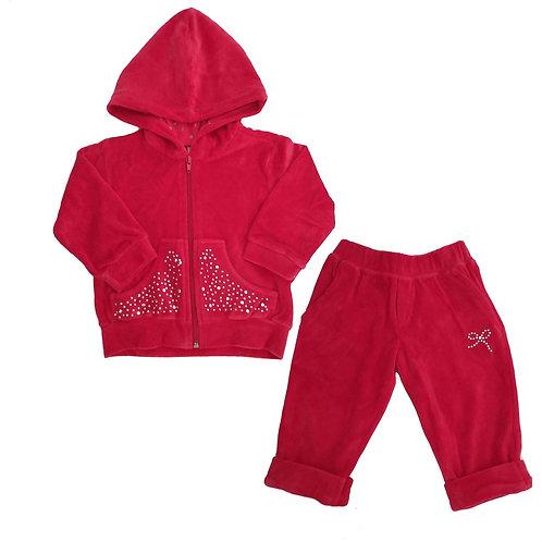 Conjunto Plush Bebê - Baby Fashion - Vermelho
