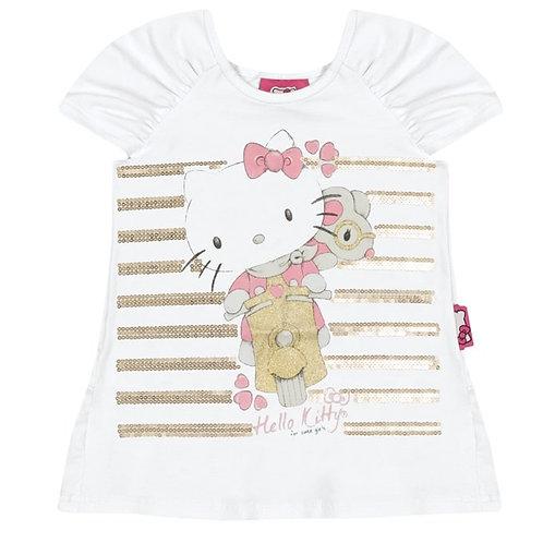 Blusa Infantil Hello Kitty - Branco- Hello Kitty