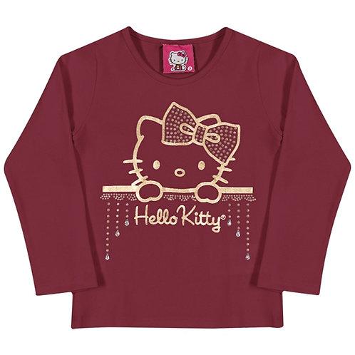 Blusa Bebê  - Bordo - Hello Kitty