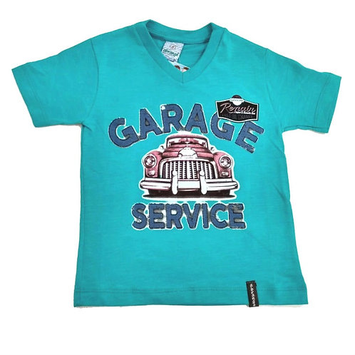 Camiseta Infantil Flamê  - Verde - Abrange