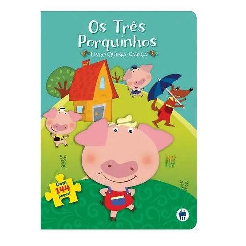 Livro Com Quebra-cabeça Os Três Porquinhos 144 Peças