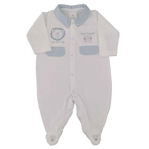 Macacão Suedine Bebê Best Friends - Baby Fashion - Branco