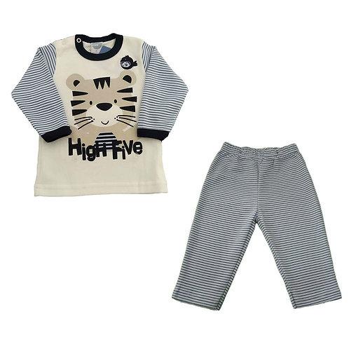 Pijama Infantil Menino Tigre - Marfim - Piu Piu