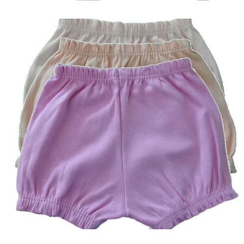 Kit 3 Shorts Bebê - Rosa - Best Club