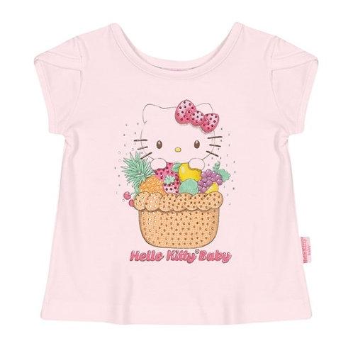Camiseta Bebê - Rosa Bebê - Hello Kitty