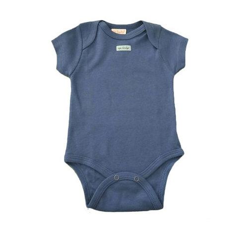 Body Manga Curta - Azul - Up Baby