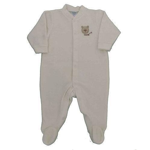 Macacão Soft Bebê - Piu Piu - Marfim