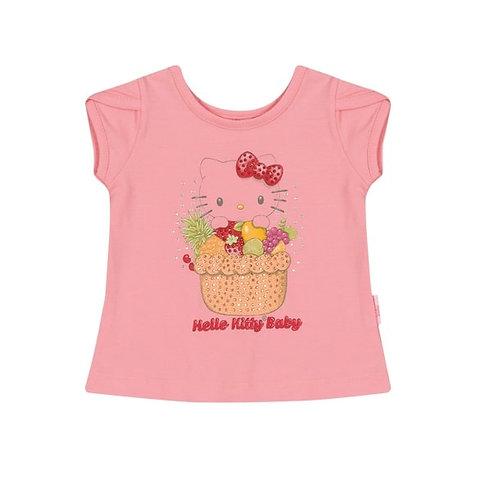 Camiseta Bebê - Rosa - Hello Kitty