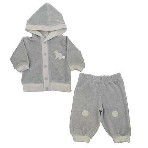 Conjunto Plush Bebê Ursinho - Baby Fashion - Azul Bebê