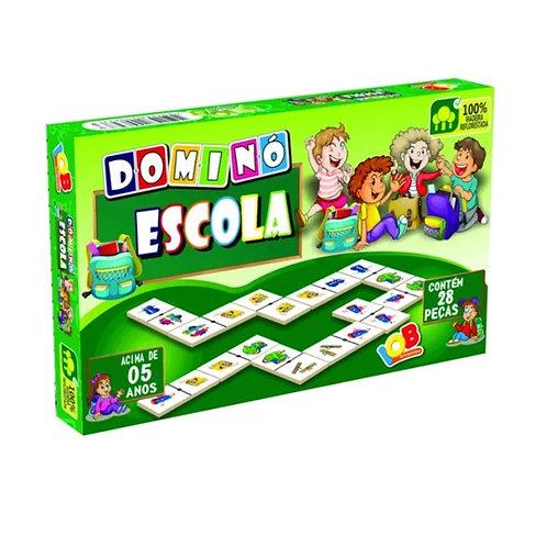 Jogo Educativo Dominó Escola 28 Peças - IOB Brinquedos