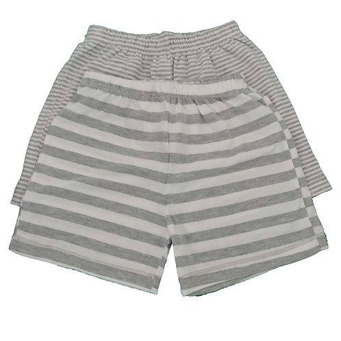 Kit 2 Shorts Bebê - Cinza - Baby Fashion