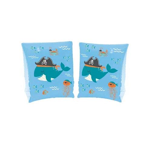 Boia de Braço Baleia Pirata - Azul - Mor