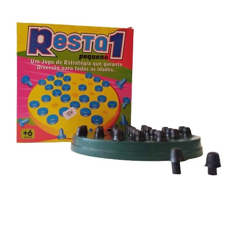 Kit com 5 Jogos Pedagógicos Resta 1 - Mini Toys