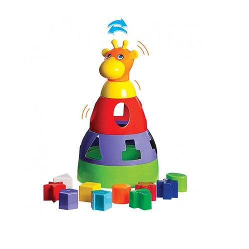 Brinquedo Educativo Girafa Didático Com Blocos - Mercotoys