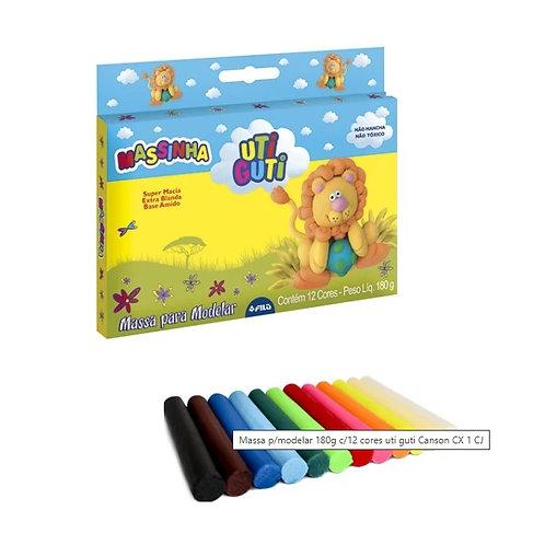 Massinha de Modelar 12 cores - Uti Guti