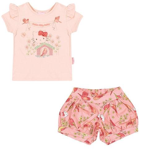 Conjunto Short E Blusa - Rosa - Hello Kitty