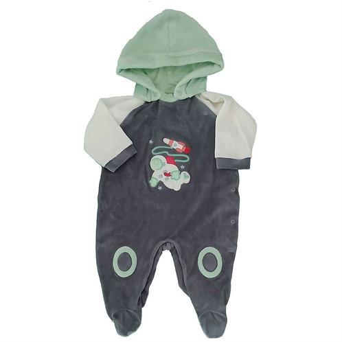 Macacão Bebê Plush Astronauta - Cinza e Verde - Baby Fashion