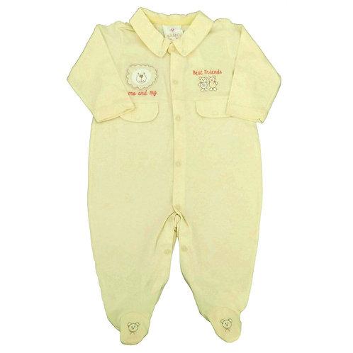 Macacão Suedine Bebê Best Friends - Baby Fashion - Amarelo