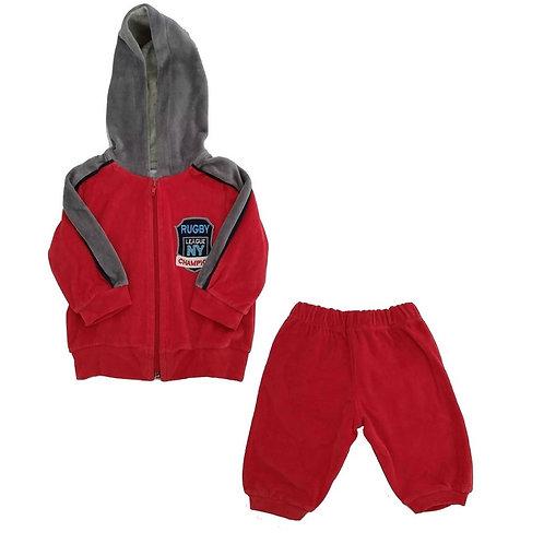 Conjunto Plush Bebê Rugbi - Baby Fashion - Vermelho