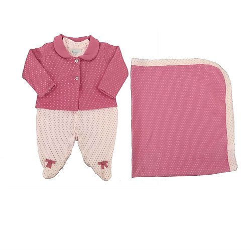 Saída de Maternidade Menina - Rosa- Baby Fashion