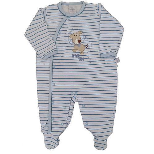 Macacão Suedine Bebê Dog Spacial- Piu Piu - Azul
