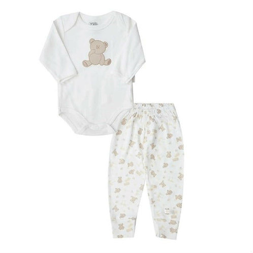 Conjunto Body E Calça Bebê - Marfim - Zig Mundi