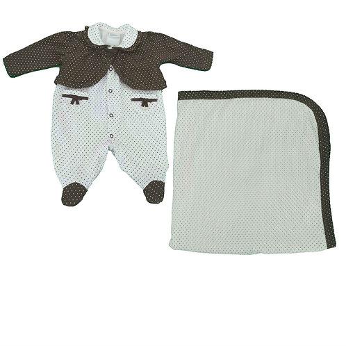 Saída De Maternidade Menina - Poá - Baby Fashion