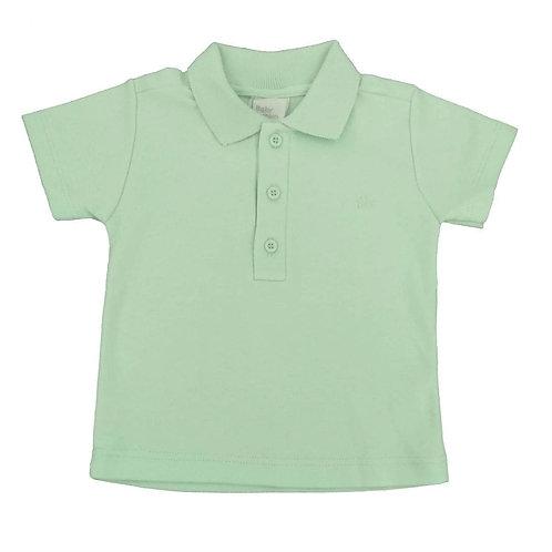 Camiseta Polo Manga Curta  - Baby Fashion - Verde