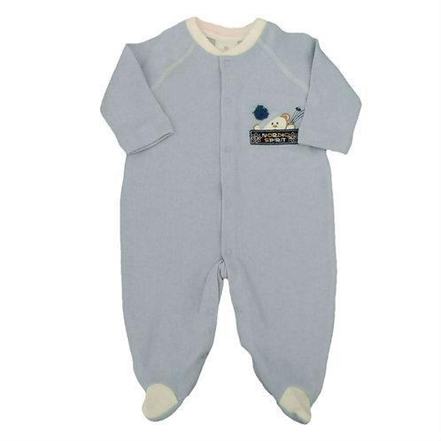 Macacão Infantil Esquiador - Baby Fashion - Azul