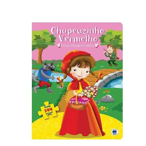 Livro Com Quebra-Cabeça Chapeuzinho Vermelho Com 144 Pecas