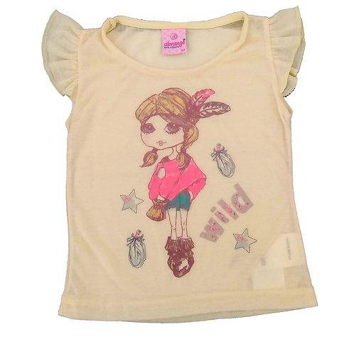 Blusa Infantil Menina - Abrange - Amarela