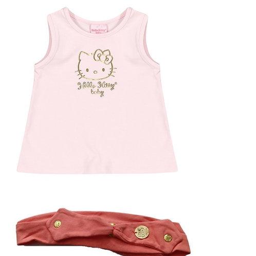 Kit Tiara E Regata Bebê - Rosa - Hello Kitty