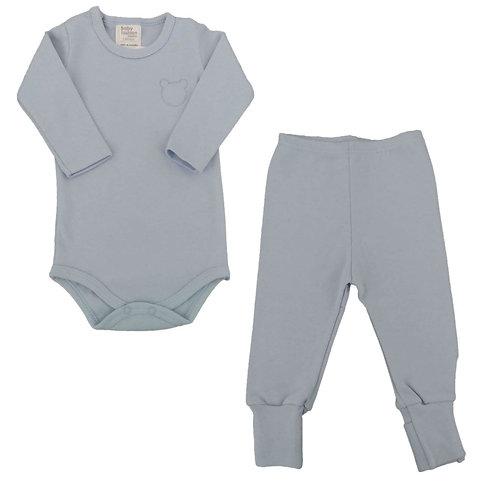Conjunto Body e Calça Bebê Ursinho- Baby Fashion - Azul