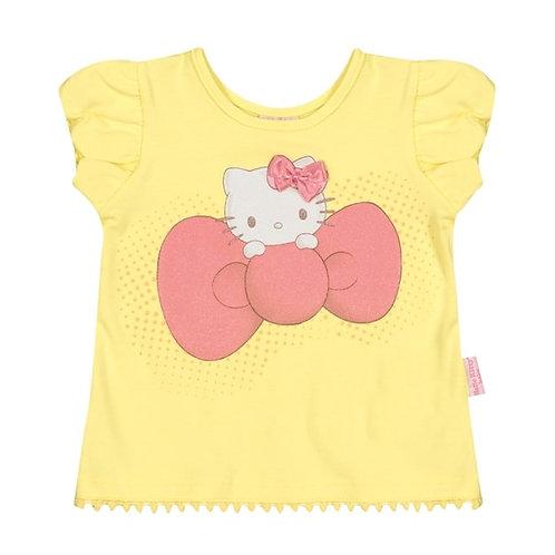 Camiseta Bebê - Amarelo - Hello Kitty