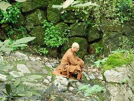 Moine bouddhiste temple de Ling Yin (Chi