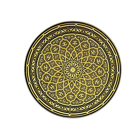 21119 geometric decoration plate
