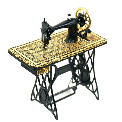 Singer sewing machine damascene replica