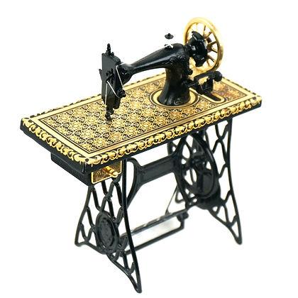 Singer sewing machine damascene replica