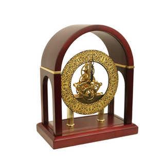 41976 quarz wood desk clock