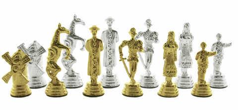 Conjunto de piezas de ajedrez cervantinas.