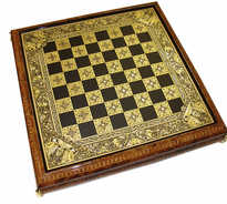 41088 Renaissance luxury damascene chess set