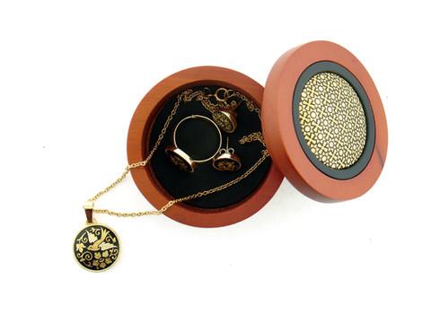41324 Mini jewelry box with geometric design